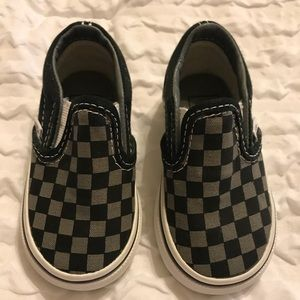 Vans - Black & Gray Checkerboard - Toddler Size 4